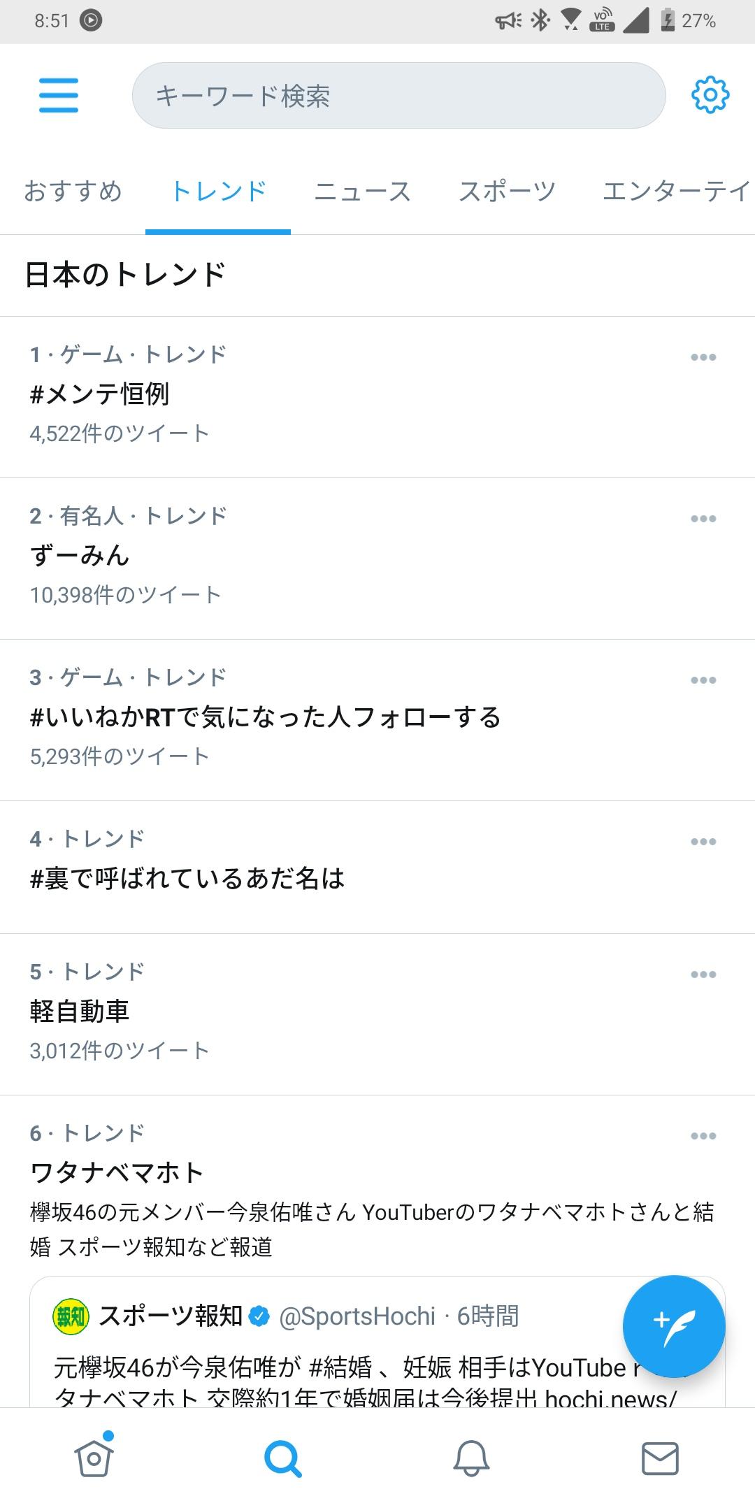 2021/01/21Twitterトレンド