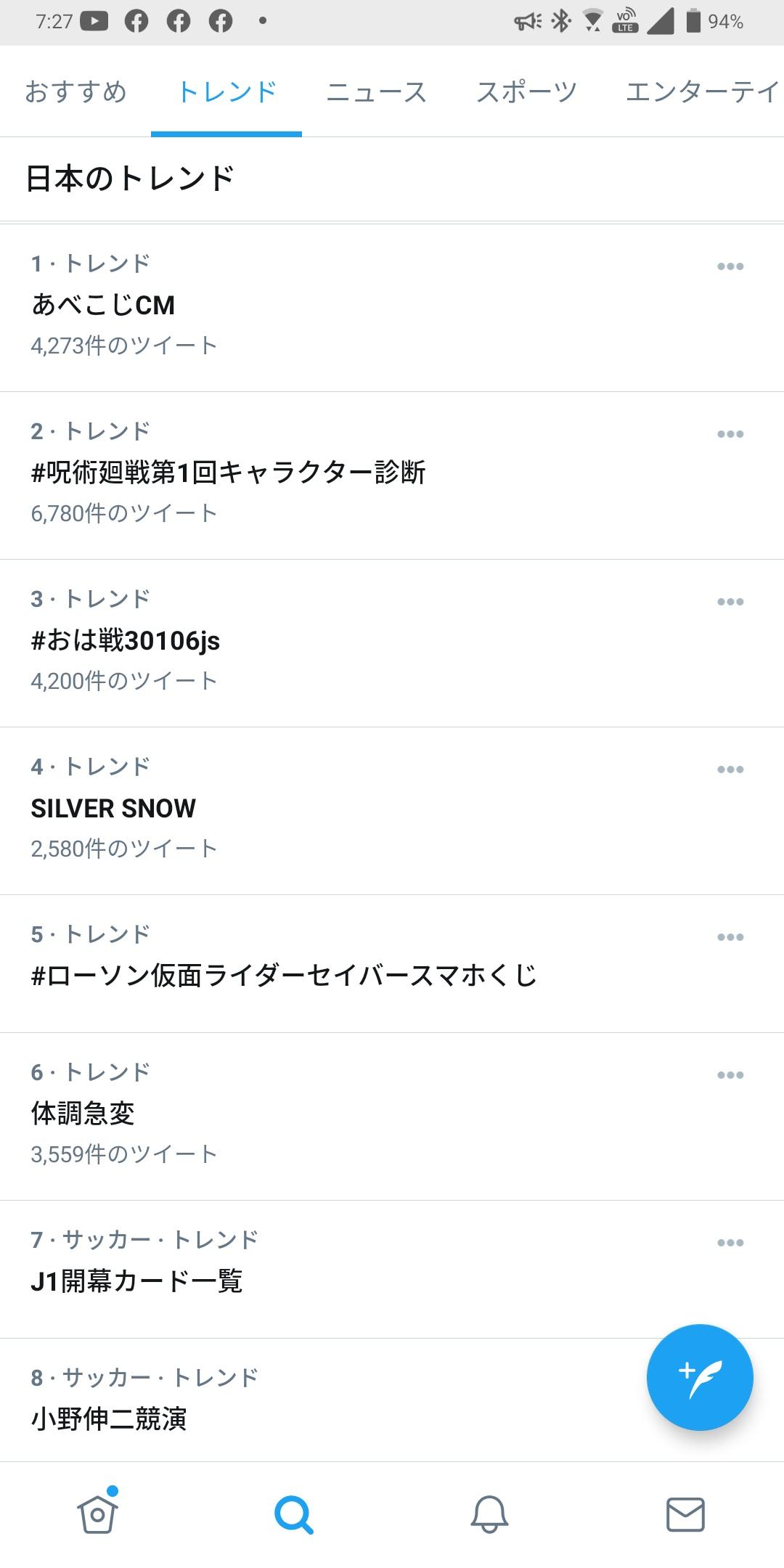 2021/01/06Twitterトレンド