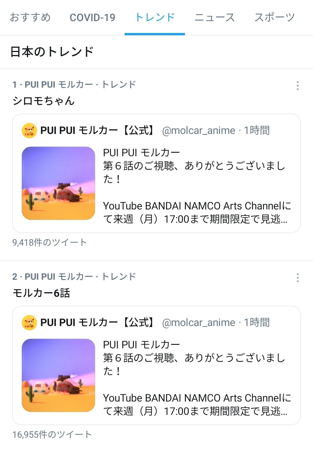 2021/02/09Twitterトレンド